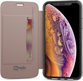 BeHello iPhone Xs / X Book Case with Tranparent Back Rose Gold