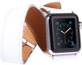 Kakapi Leren bandje - Apple Watch Series 1/2/3/4 (38&40mm) - Wit