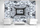 Fotobehang Papier 3D, Modern | Zilver | 254x184cm