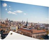 Het centrum van Madrid Tuinposter 120x80 cm - Tuindoek / Buitencanvas / Schilderijen voor buiten (tuin decoratie)