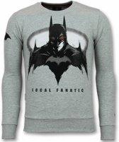 Local Fanatic Batman Trui - Batman Sweater Heren - Mannen Truien - Grijs - Maten: M