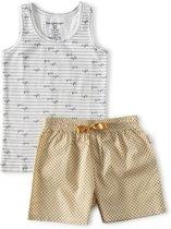 zomer pyjama hemd meisjes - yellow dot