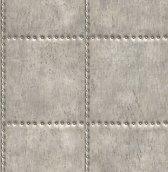 Reclaimed Sheet Metal grijs behang (vliesbehang, grijs)