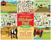 Stickerboek herbruikbaar Melissa & Doug boerderij farm sticker herbruikbare reusable stickers