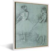 Foto in lijst - Two dancers - Schilderij van Edgar Degas fotolijst wit 30x40 cm - Poster in lijst (Wanddecoratie woonkamer / slaapkamer)