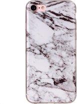 Mobigear Marmer Softcase Hoesje Wit iPhone 7 / 8