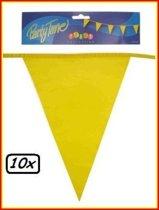 10x Vlaggenlijn geel 10 meter