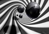 Fotobehang Abstract Swirl Modern Spheres | L - 152.5cm x 104cm | 130g/m2 Vlies