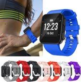 Siliconen Horloge Band Voor Garmin Forerunner 30 / 35 - Armband / Polsband / Strap Bandje / Sportband - Blauw