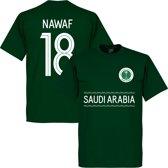 Saudi Arabië Nawaf 18 Team T-Shirt - Groen - XL