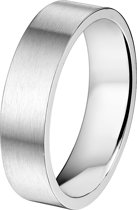 The Jewelry Collection Ring A508 Zonder Cz 6 mm - Staal