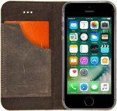 Senza Raw Leather Booklet Apple iPhone 5/5S/SE Walnut Brown