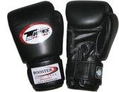 Twins (kick)bokshandschoenen Velcro zwart 12 oz