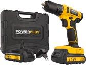 Powerplus POWX00425 Accuboormachine - 16V Li-ion -  incl. 2 accu's - incl. gereedschapskoffer