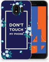 Samsung Galaxy J4 2018 TPU Hoesje Flowers Blue DTMP