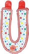 opblaasbare letter U multi color