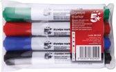 20x 5 Star whiteboardmarker etui van 4 stuks in geassorteerde kleuren