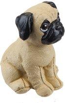 TOM beeldje hond 5 cm bruin/zwart