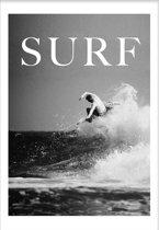 Surfer (29,7x42cm) - Tropisch - Poster - Print - Wallified
