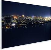 Stadsgezicht Pyongyang tijdens de nacht Plexiglas 90x60 cm - Foto print op Glas (Plexiglas wanddecoratie)
