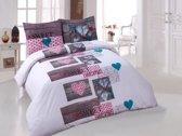 Dekbedovertrek Sweet Home Pink Lits-jumeaux 240x200/220 cm