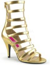 Dream-438 sandaal enkellaars met bandjes en hak metallic goud - (EU 45 = US 14) - Pleaser Pink Label