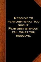 2019 Weekly Planner Ben Franklin Quote Resolve Perform Vintage Style