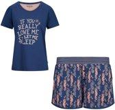 Charlie Choe pyjama meisjes - blauw - Paris - maat XL