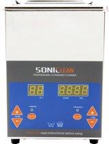 SonicClean 2L digitale ultrasoon reiniger - Ultrasone reinigingsmachine - RVS