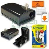 AANBIEDING: Anti-muis Voordeelpakket 3 x Stalen muizenval Microbait inclusief muizengif en stickers