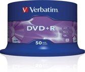 Verbatim 43550 DVD+R Matt Silver - 50 Stuks / Spindel