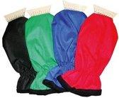 IJskrabber met handschoen Deluxe rood