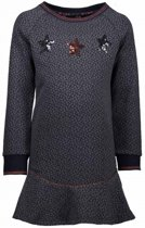 NONO Meisjes jurken NONO MollyB jacquard knit sweater dress grijs 146/152