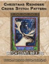 Christmas Reindeer Cross Stitch Pattern