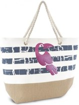 Luna Cove TOUKAN Strandtas Shopper Canvas Gestreept Trendy