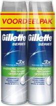 Gillette Series Gevoelige Huid - 2x250ml - Scheerschuim