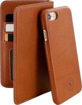 Serenity 2 in 1 Leather Wallet Case Apple iPhone 7/8 Cognac Brown