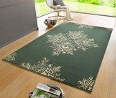 Modern vloerkleed Blossom - groen 80x150 cm