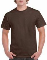 Donkerbruin katoenen shirt voor volwassenen L (40/52)