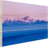 Himalaya tijdens zonsopgang Hout 60x40 cm - Foto print op Hout (Wanddecoratie)