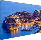 FotoCadeau.nl - Dubrovnik Kroatie Canvas 80x60 cm - Foto print op Canvas schilderij (Wanddecoratie)