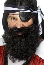 Piraten baard zwart gekruld