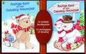 50 stuks Kerstkaarten - Nieuwjaarskaarten - Cute - Kinderplaatjes - met envelop | 5 pakjes | serie 18 - 2