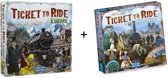 Ticket to ride Europe / Europa met uItbreiding Map Collection - France / Old West - Combi Deal