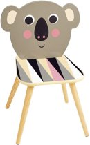 The Vilac Koala Chair is a beautiful wooden seat that features an illustration by artist Ingela P. Arrhenius.