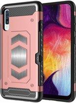 Ntech Luxe Armor Hoesje - Samsung Galaxy A50 - Rose Goud