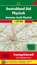 Deutschland Süd 1 : 500 000. Poster-Karte mit Metallbestäbung