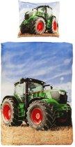 Snoozing Tractor - Dekbedovertrek - Eenpersoons - 140x200 cm + 1 kussensloop 60x70 cm - Multi kleur