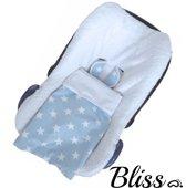 Bliss Baby Deken Ster Lichtblauw - 75x90cm