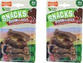 Nylabone gezonde harde snacks 4 x bison per 2 verpakkingen